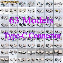 63 modelos usb-c tipo c usb 3.1 macho fêmea soquete pcb conector 6p 9p 14p 16p 24p para xiaomi/huawei/nokia/moto/samsung/bluboo