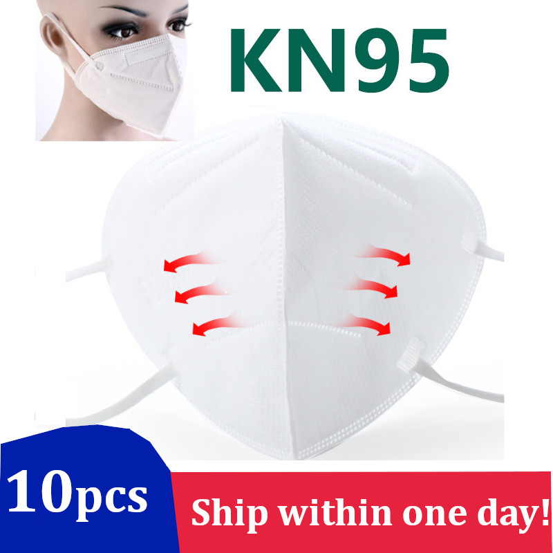 10PCS KN95 Virus Mask Mouth Face Mask Dust Anti Infection KN 95 Protection Masks PM2.5 Fog Respirator Filter Rate 95% Reusable