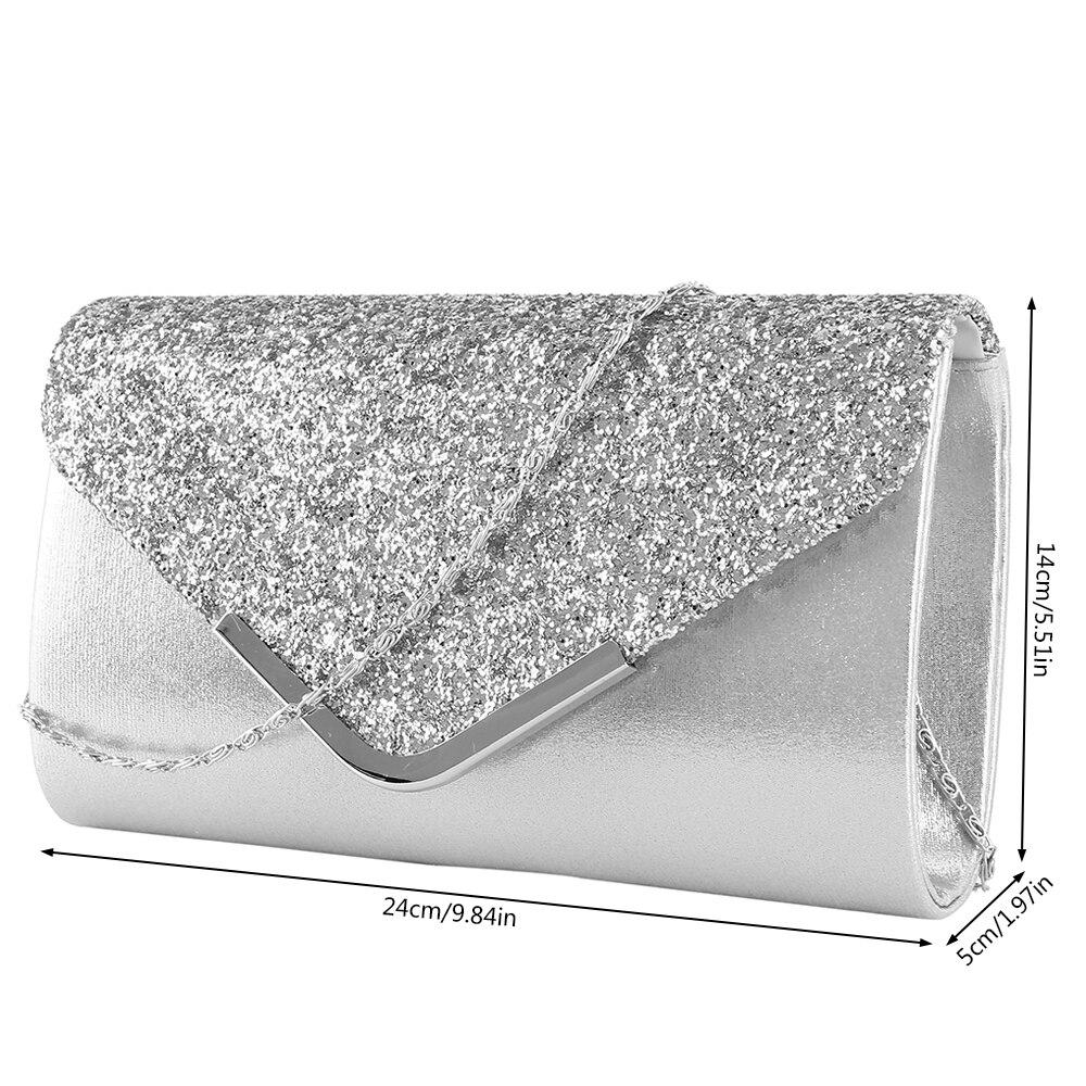 HOT Luxury Shiny Women Purse Envelope Clutch Fashion Glitter Ladies Wedding Bags Handbags Bolsas Vintage Evening Bags for Women