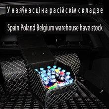 Boîte de rangement pour voiture malle en cuir PU boîte de rangement sac de rangement pliable