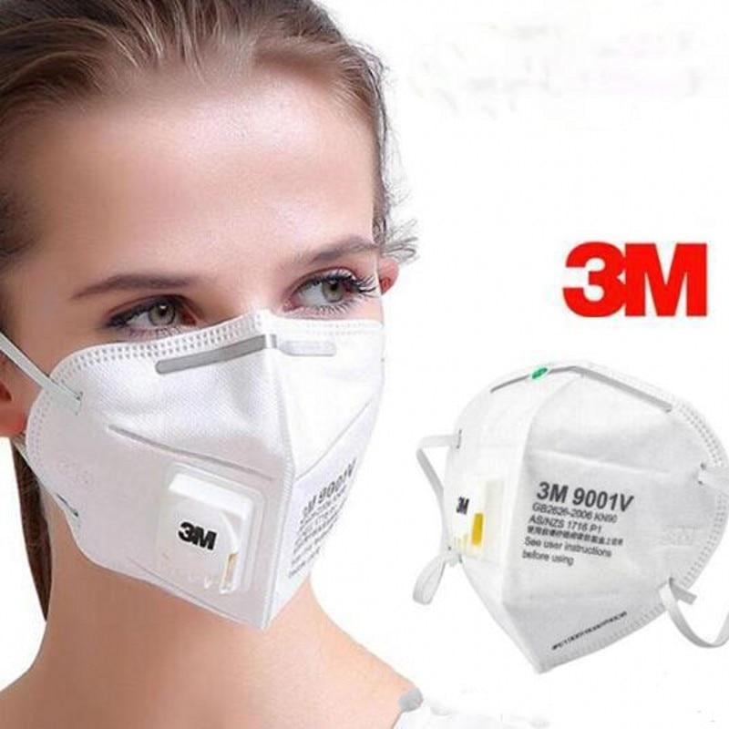10pcs 3M KN95 Face Mask Anti-dust PM2.5 Fog Standard Masks Anti Particles Influenza-proof Riding Protective Adult Unisex Masks