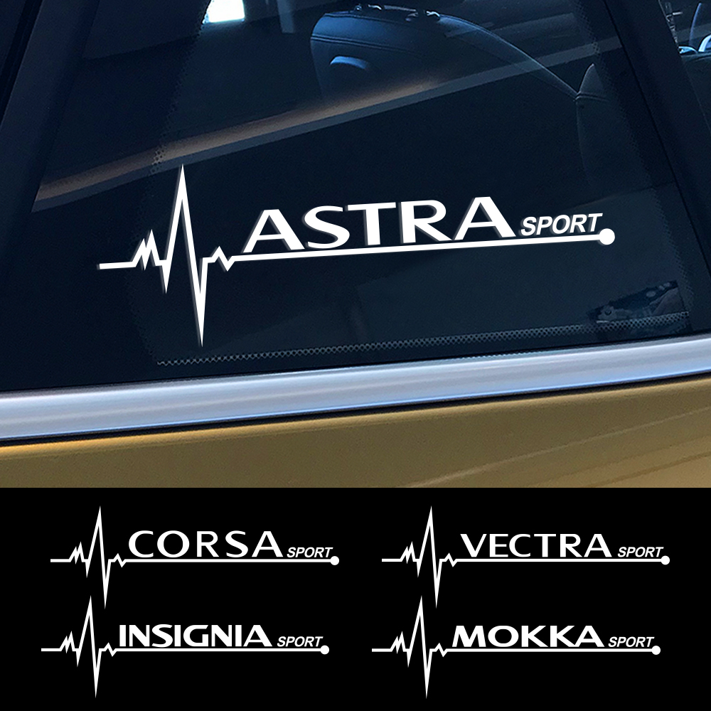 2 pièces autocollant de fenêtre latérale de voiture pour Opel OPC Astra Insignia Corsa Mokka Vectra Adam Combo Crossland X Grandland Tigra Zafira Vivaro