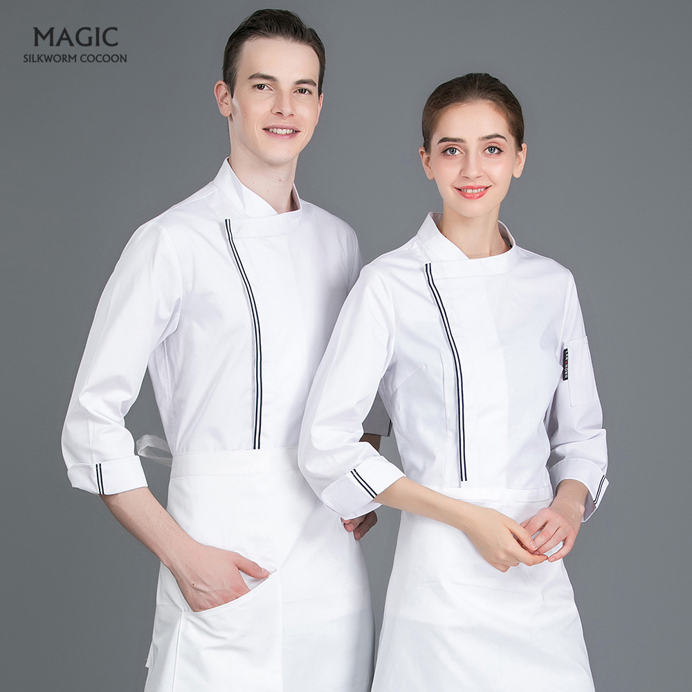 Food Service Hotel Restaurant Cafe Kitchen Chef Jacket Chef Work Wear Tops High Quality Long Sleeve Breathable Clothing Uniform