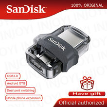 Sandisk Dual OTG USB Flash Drive 64GB 32GB 16GB 128GB SDDD3 Pen Drives extrema de alta velocidad penDrives 3,0 para teléfono Android(China)