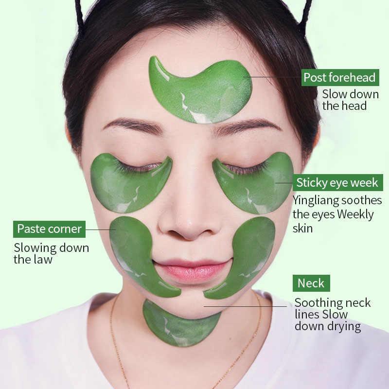 Idrogel Occhio Toppe e Stemmi Anti Invecchiamento Collagene 60PCS Oro Verde Anti Rughe Occhi Maschera Occhiaie Per Senza Età Gel Coreano patch di P