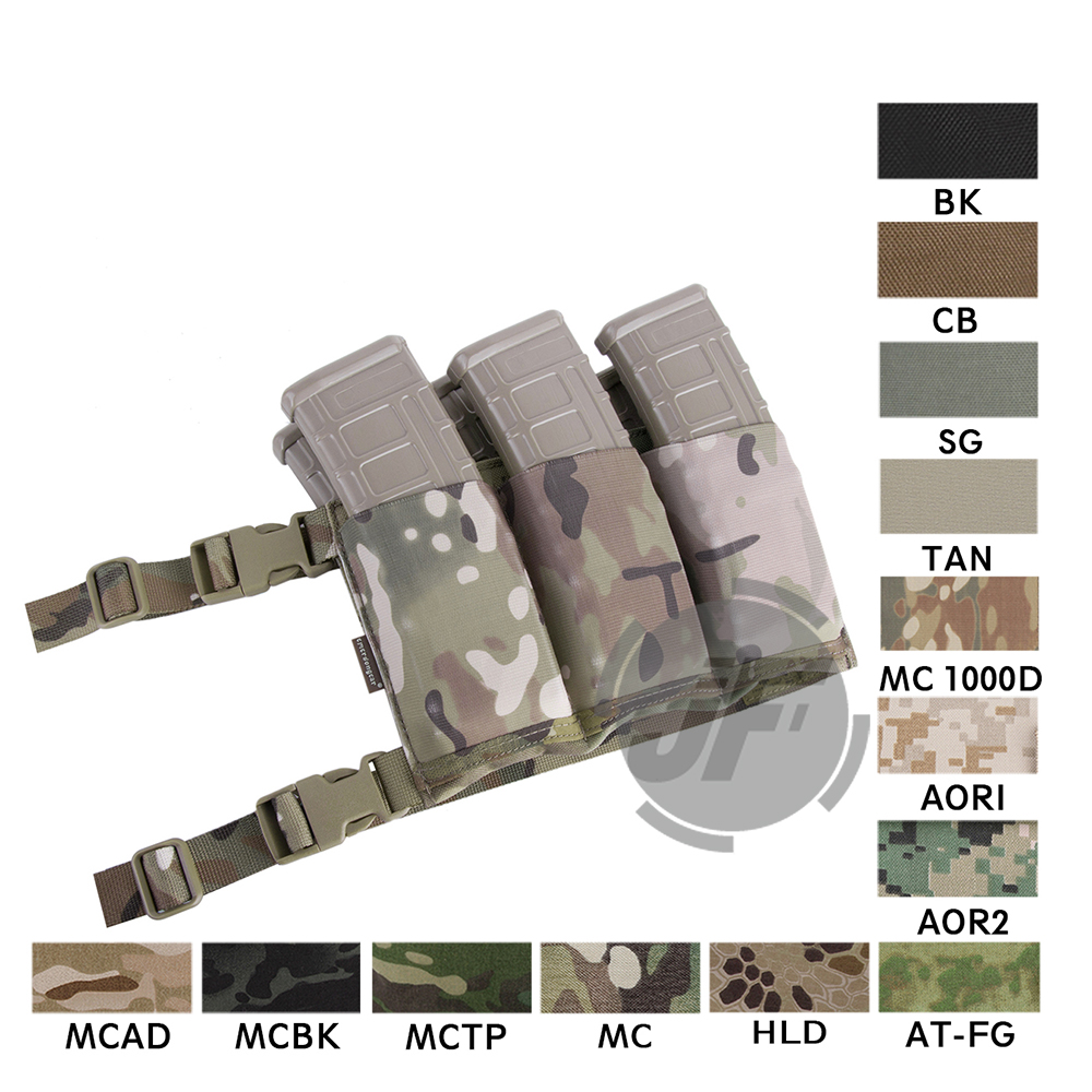 Emerson 5.56 .223 <font><b>M4</b></font> Rifle Triple <font><b>Magazine</b></font> Pouch High-Speed Airsoft Hunting 5.56 .223 <font><b>M4</b></font> Rifle Waist Mag Bag Carrier Holder image