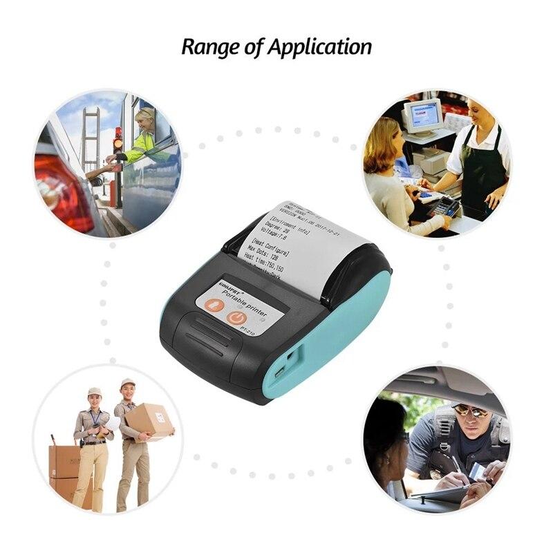 GOOJPRT PT-210 Tragbare Thermische Drucker Handheld 58mm Empfang Drucker für Einzelhandel Geschäfte Restaurants Fabriken Logistik