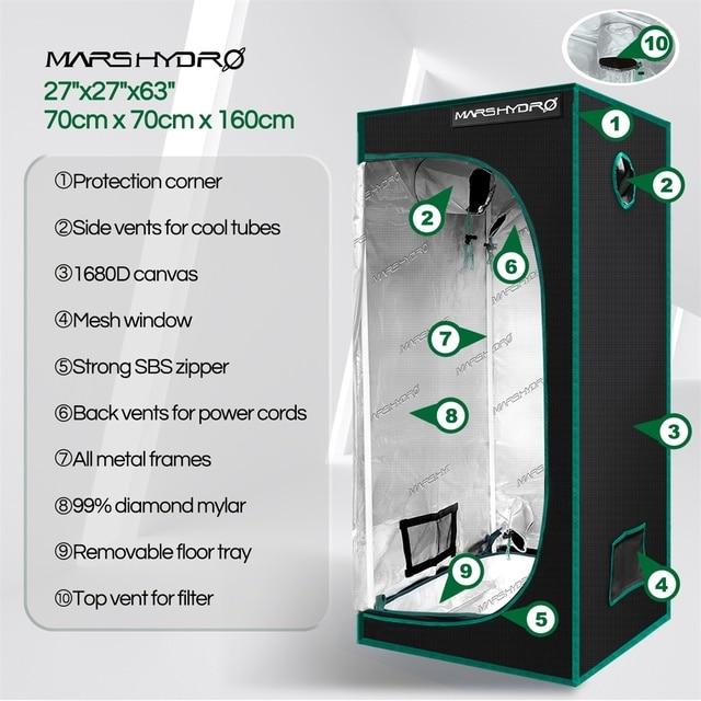 Marshydro 70x70x160cm grow tent 1680D indoor  5