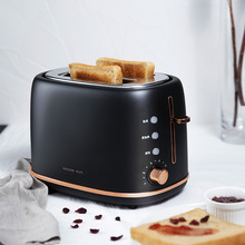Bread-Baking-Maker Grill Toast Electric-Toaster Oven Sandwich 2-Slice Household Stainless-Steel