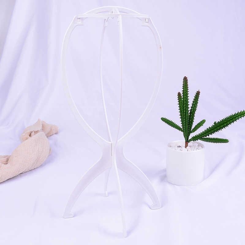 1 pieza soporte para pelucas cabeza de plástico soporte para peluca soporte portátil plegable para estilizar viajes de secado para mujeres Rosa blanco negro