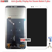 5.99Original LCD For Xiaomi Redmi 5 Plus LCD Display with Frame Touch Screen For Redmi5 Plus Replacement 10 Touch Digitizer original lcd with touch for symbol mc67 mc55a0