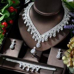 Набор украшений HIBRIDE, серьги, кольцо, браслет для женщин, подарок для свадебной вечеринки, N-884
