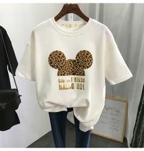 2021 Summer New Harajuku Mouse T Shirt Women Fashion VOGUE Printed Female Cute T-Shirts Oversize Short Sleeve Casual TShirt Tops