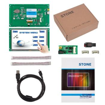 7 inch HMI  LCD Monitor with Touch Screen + Control Board + Serial Port + Program for Industrial Control 7 0 inch serial lcd display module with program touch screen for equipment control panel