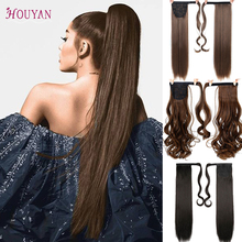 HOUYAN 24 Inch Silk Straight Synthetic Women's Hair Extension Curly Hair Ponytail Hair High Temperature Fiber Long Curly Wig [delice] 16 inches women s high temperature fiber synthetic hair curly ponytail piano color 90g piece