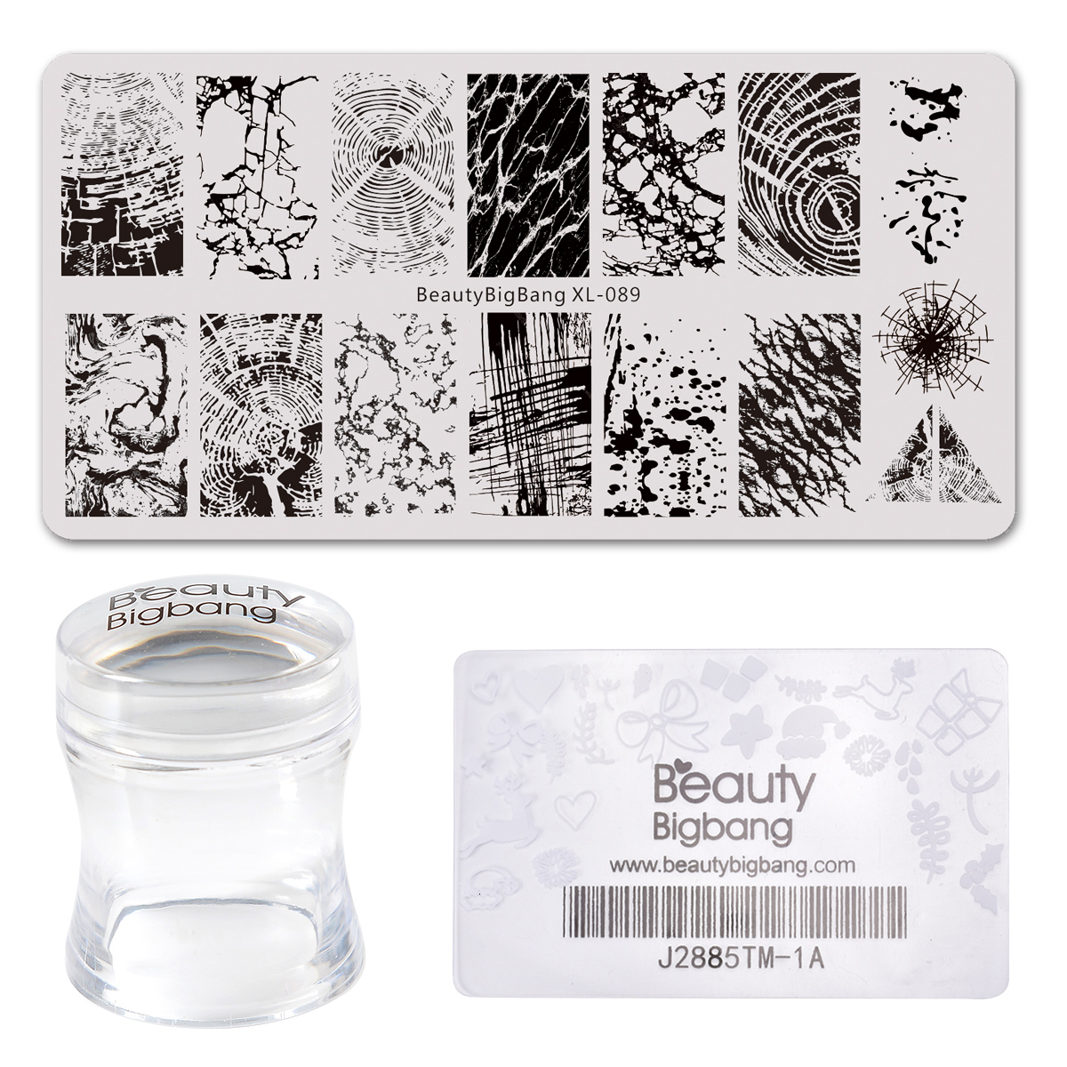 Beautybigbang Nail Stamping Plates Set 6*12cm Stainless Steel Annual Ring Flower Template Stencil Mold Nail Art Accessories Set(China)