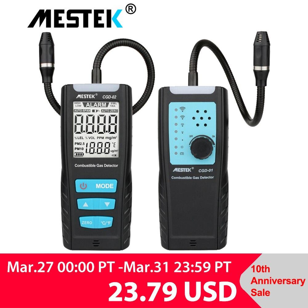 Aletler'ten Gaz Analizörleri'de LCD gaz analizörü metre otomotiv yanıcı gaz sensör dedektörü hava kalitesi monitör gaz kaçak dedektörü ses şok alarmı title=
