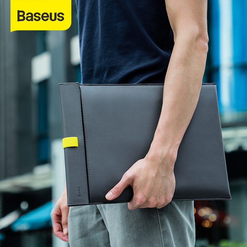 Baseus Laptop Bag For Macbook Air Pro Laptop Sleeve Magnetic Switch Double-layer Notebook Cover Liner Sleeve 13 14 15 16 Inch