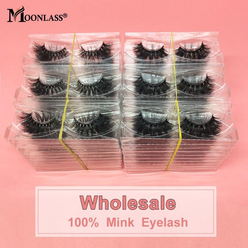 3D Mink Lashes 30 Pairs Natural Soft Bulk Lashes False Eyelashes Wholesale 5D Mink eyelashes Make Up Beauty Eyelashes(China)