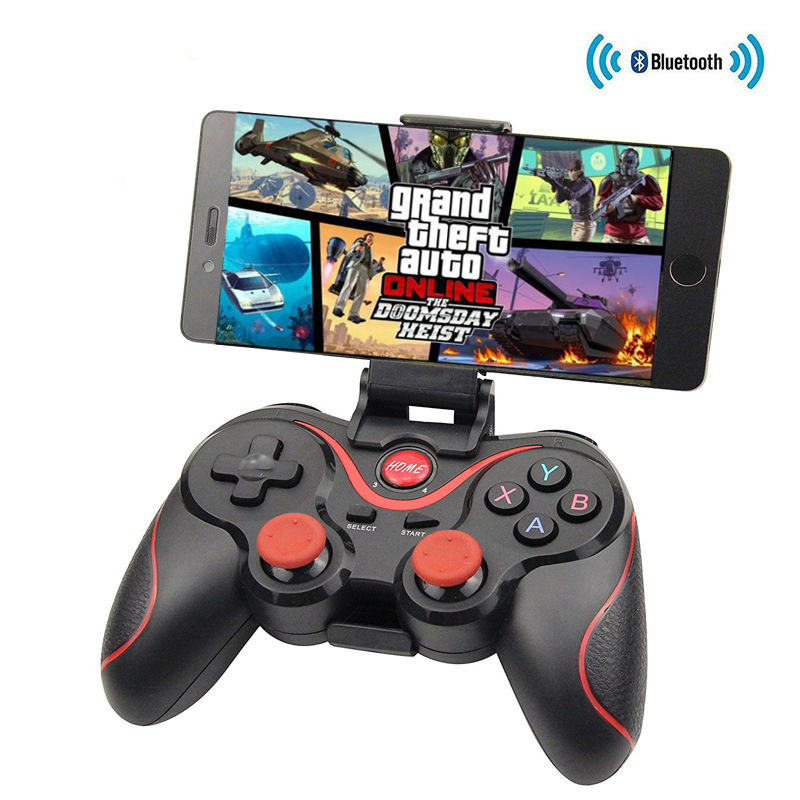 Bluetooth X3 <font><b>Wireless</b></font> <font><b>Controller</b></font> T3 Gamepad With Stand Holder For <font><b>PC</b></font> Android Gamepad Gaming Remote Controle For PS3 Console image