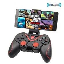 Bluetooth X3 kablosuz denetleyici T3 Gamepad için standı tutucu ile PC Android Gamepad oyun uzaktan kumanda için PS3 konsolu