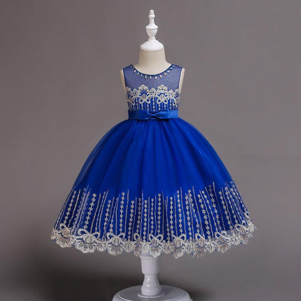 New Style Girls Dress Flower Boys/Flower Girls Bow Formal Dress Red Princess Mesh Skirt Costume