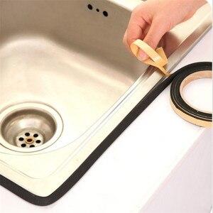 Image 2 - Cinta de sellado para cocina y ventanas, 2 uds., 2M, estufa de Gas, hendidura, tira antiincrustante, cinta de anilla para Cocina