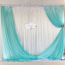 Wedding on Site Ice Silk Cloth Background Curtain Got Engaged Stage Performance Party Fashion Background Decoration