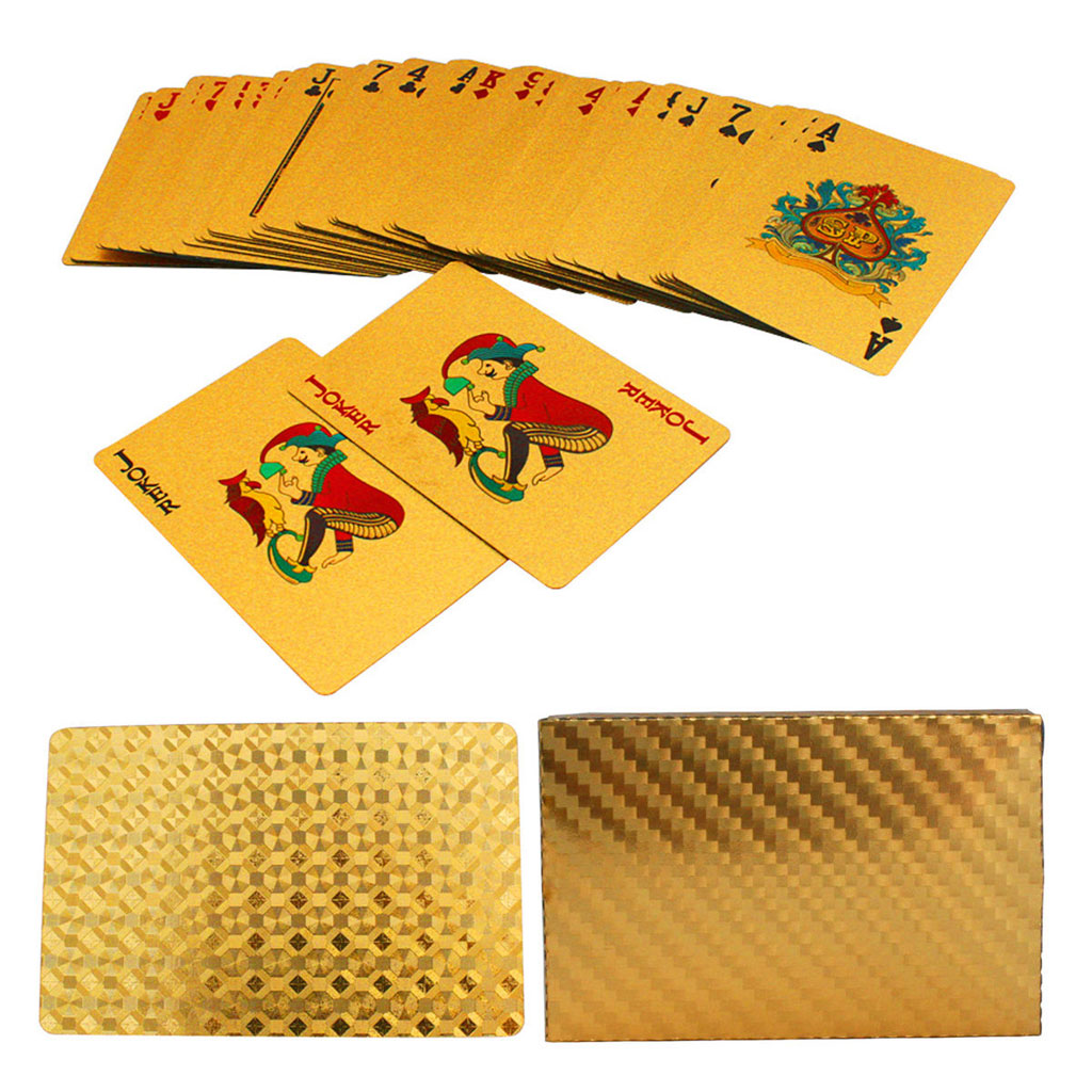 Hot Sale Playing Cards with 24K Gold Leaf and Geometric Design Full Deck Poker Card image