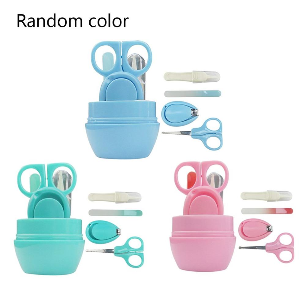 4Pcs Baby Nail Scissors Set Cute Nail Clippers Trimmer Newborn Baby Nail Safety Scissors Nail Care Suit Baby