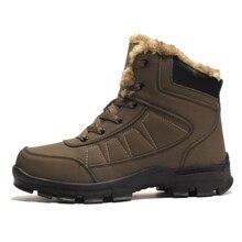 Мужские зимние ботинки зимние теплые ботинки для пешего туризма с мехом размера плюс 39-47 мужские уличные спортивные кроссовки черные коричневые мужские зимние ботинки