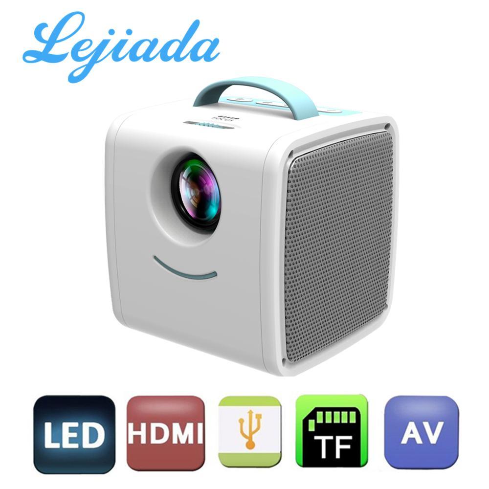 Портативный светодиодный мини-проектор LEJIADA Q2, 600 люмен, поддержка воспроизведения 1080p HD, HDMI, совместимый с USB, домашний мультимедийный плеер