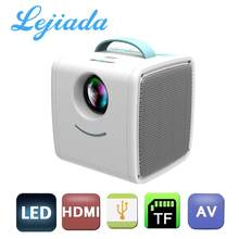 LEJIADA Q2 LED Portable Mini Size 600 Lumen Support 1080p HD Playback HDMI-Compatible USB Movie Projector Home Multimedia Player