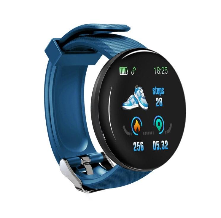 2019 New Arrival D18 Waterproof Bluetooth Bracelet Smart Watch Heart Rate Blood Pressure Activity Trackers Sports Smartwatch