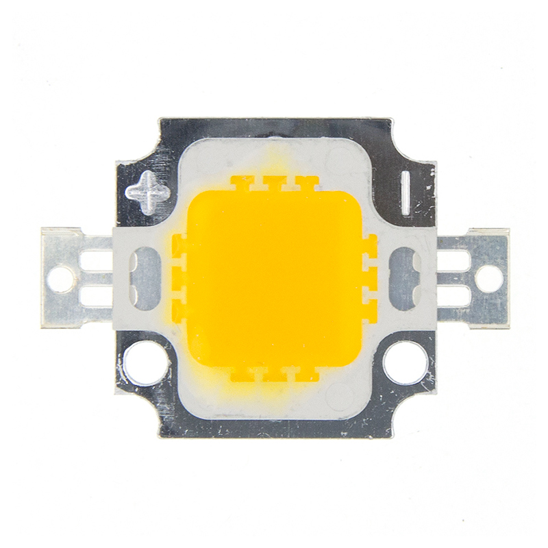 10PCS 10W LED Warm White 800-900LM LED SMD Lamp Light Daylight White High Power LED 6000-6500K 12V 600MA