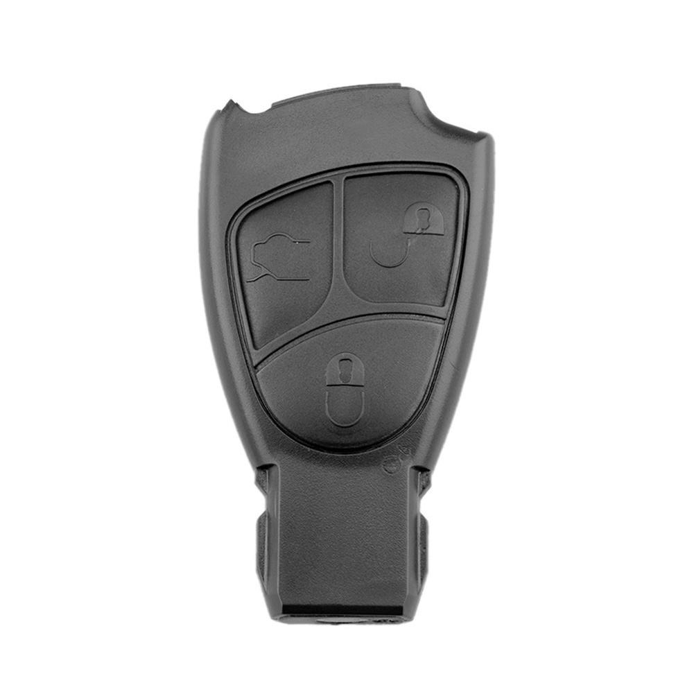 Araba uzaktan anahtar kabuk 3 düğmeler anahtar durumda kapak değiştirme Mercedes Benz W203 W211 W204 siyah