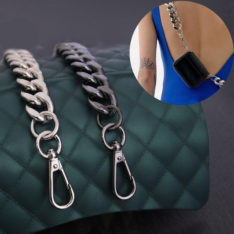 Металлическая сумка, цепи, женские сумки, запчасти, Длинный кошелек, цепи, сумки, ремешки на запястье, высококачественные сумки, аксессуары для замены, ремешки DIY
