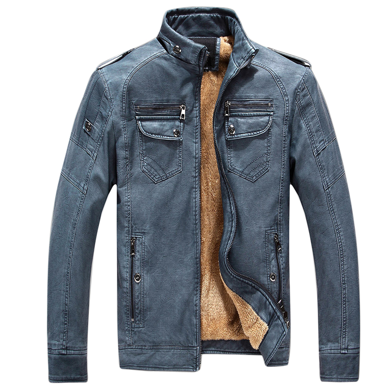 Brand Motorcycle Leather Jackets Men Autumn Winter Casual PU Jacket Leather Coats Men Faux Jacket Mens Brand Clothing