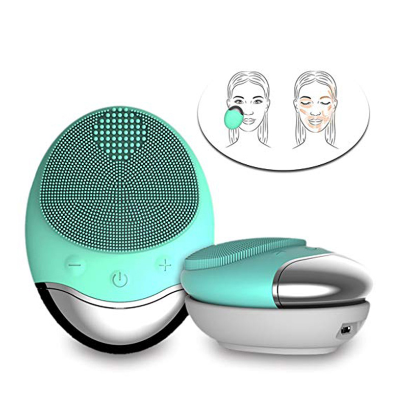 Image 5 - Face Cleansing Brush Electric Facial Cleanser Facial Cleansing Brush Facial Cleansing Waterproof Anion Imported Wireless Mini2-in Powered Facial Cleansing Devices from Home Appliances