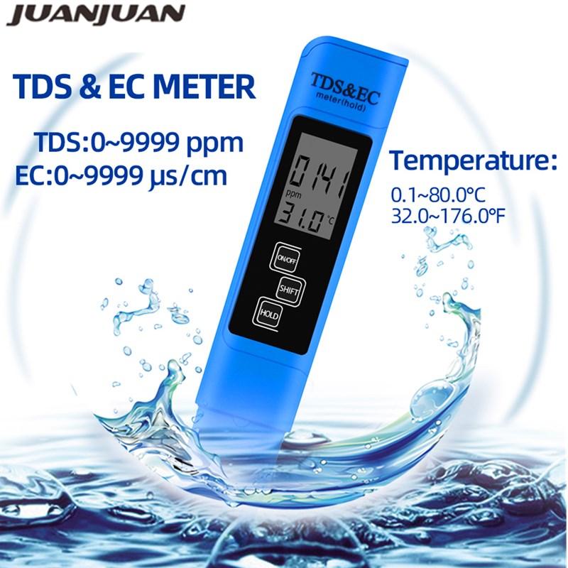 Nový TDS EC Měřič teploty Tester pero 3 In1 Funkce Vodivost - Měřicí přístroje - Fotografie 2