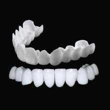 Novo snap on sorriso dental superior e inferior dentes falsos capa perfeita sorriso folheados conforto ajuste flex dentadura cintas dentes branqueamento