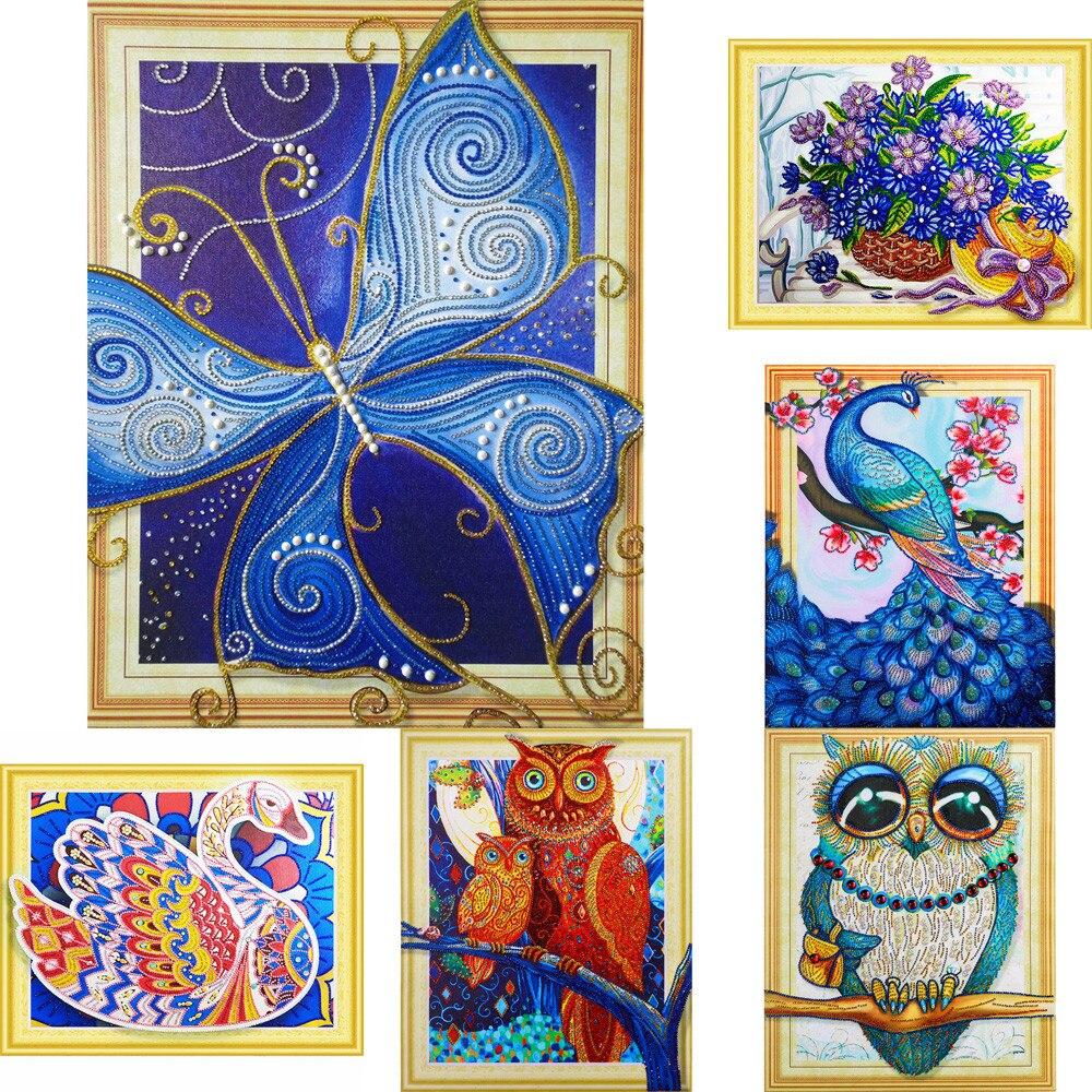 DIY 5d Diamond Painting Crystal Kits,Cartoon Insect Wall Decor,Diamond Art Kits Rhinestone Embroidery Cross Stitch Kits Supply Arts Craft Canvas Wall Decor Stickers Home Decor 40x30 cm