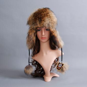 100 naturalne prawdziwe futro z lisa Bomber czapki rosja zima na zewnątrz ciepłe miękkie miękkie futro czapka kobiety jakości kapelusz tanie i dobre opinie YECHNE Dziewczyny Dzieci Stałe Wełniana Vrouwen volwassen Bomber Hats Adjustable fit for everyo 100 real natural fox fur