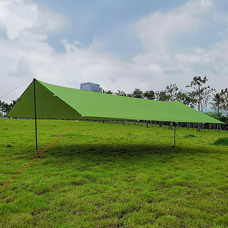 FLAME'S CREED 510g 3*3 Meters 15d Nylon Silicone Coating High Quality Outdoor Caming Tent Tarp Ultralight Sun Shelter Awning