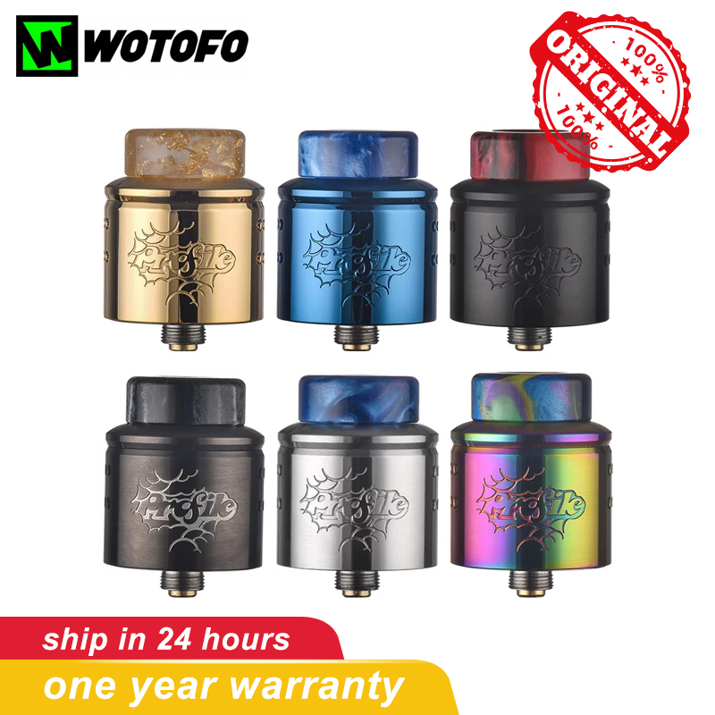Original Wotofo Profile V1.5 24MM RDA Tank Atomizer 510 Thread Electronic Cigarettes Vape Tank With NexMESH Coil