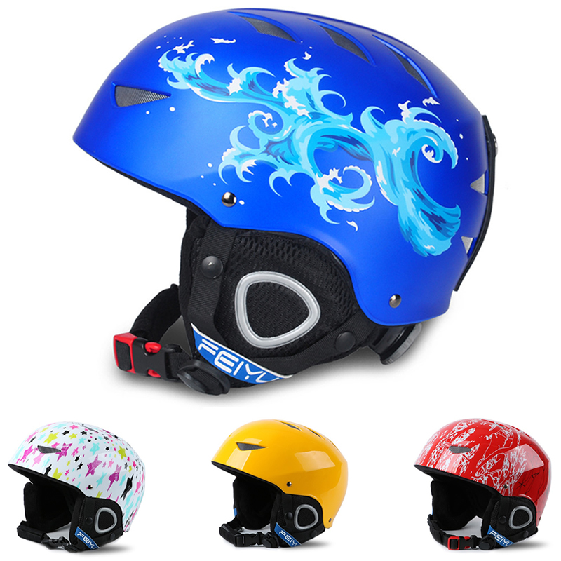 Kids Boys Skate Skiing Helmets Children Ultralight Ski Helmet Warmer Snowboard Skateboard Sports Safety Equipment Protect Gear