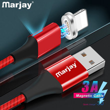 Marjay Magnetic USB Cable for iPhone X Xs Max XR 3A Fast Charging Charger Data 8 7 6SPlus