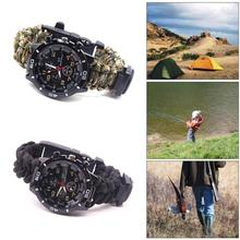 Multi-function watch Tactical Bracelet Outdoor Camping Boating Hunting Hiking