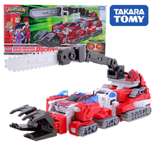 TAKARA TOMY Action Figure Speed Rescue Children Gifts Doll Toys Transformation TOMICA Rescue Deformation Bulldozer Toy tomica бежевый