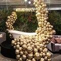 50/100 шт 12 дюймов хромированные металлические шары из латекса Золотые круглые металлические шарики День рождения надувать воздушные Globos Сва...
